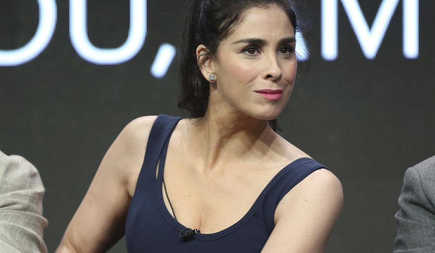 "Star/executive producer Sarah Silverman participates in the ""I Love You, America"" panel during the Hulu Television Critics Association Summer Press Tour at the Beverly Hilton on Thursday, July 27, 2017, in Beverly Hills, Calif. (Photo by Willy Sanjuan/Invision/AP)"