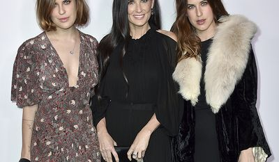Tallulah Belle Willis, Demi Moore and Scout LaRue Willis. Tallulah was sent to rehab at age 20 for alcohol and drug issues. Scout was busted for giving cops a fake ID after she was caught with an open beer in Union Square station in New York.