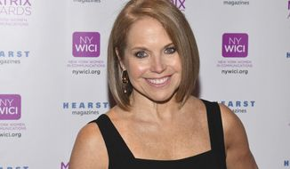 In this April 24, 2017 file photo, Katie Couric attends the Matrix Awards, hosted by New York Women in Communications, at the Sheraton Times Square in New York. (Photo by Charles Sykes/Invision/AP, File)