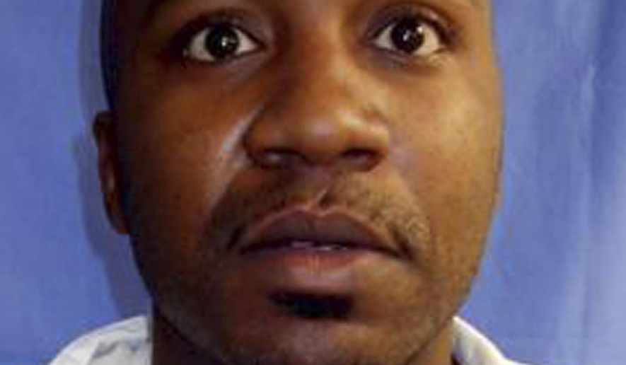 This March 16, 2017 photo provided by the Arkansas Department of Correction shows Brandon Hardman at the Cummins Unit prison in Varner, Ark. Hardman was convicted of capital murder at age 16 and received a mandatory sentence of life without parole following his conviction in 2002. The U.S. Supreme Court has said mandatory no-parole terms are unconstitutional for juvenile offenders. (Arkansas Department of Correction via AP)