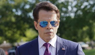 In this July 25, 2017, file photo, White House Cmmunications Director Anthony Scaramucci walks back to the West Wing of the White House in Washington. (AP Photo/Pablo Martinez Monsivais) ** FILE **