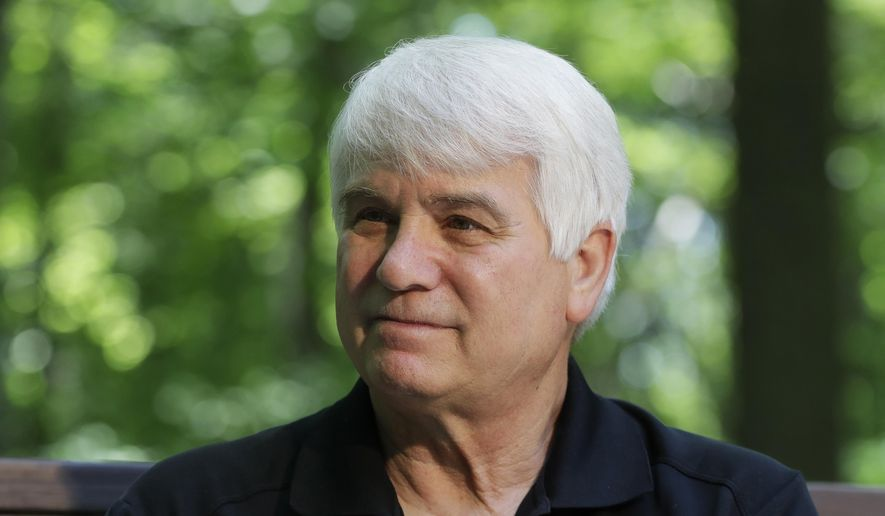 In this June 9, 2017, file photo, former Army medic James McCloughan is interviewed in South Haven, Mich. McCloughan, from Michigan, who risked his life nine times to rescue comrades in Vietnam is becoming the first person to receive the Medal of Honor from President Donald Trump at the White House on Monday, July 31, 2017.  (AP Photo/Carlos Osorio, File)