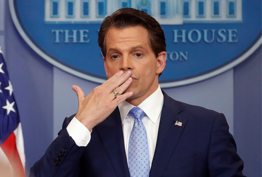 White House communications director Anthony Scaramucci was forced out of his position just hours after President Trump swore in John F. Kelly as chief of staff. (Associated Press/File)