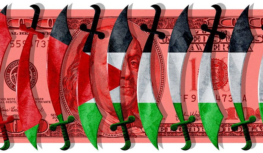 Foreign Aid Funding Terror Illustration by Greg Groesch/The Washington Times