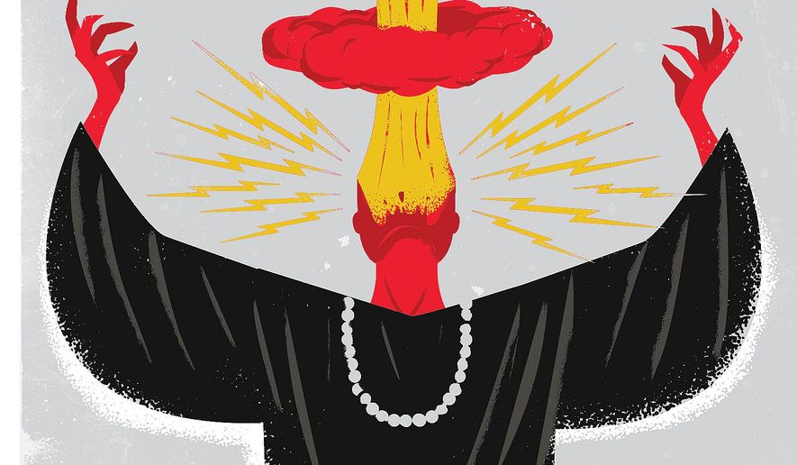 Illustration on the violence pronounced from some Muslim pulpits by Linas Garsys/The Washington Times