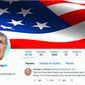 A screenshot of President Donald Trump's Twitter account. (Twitter)