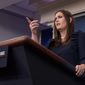 "White House press secretary Sarah Huckabee Sanders claimed President Trump ""weighed in"" but not ""dictate"" Donald Trump Jr.'s statement denying Russia collusion. ""Everybody wants to  make this some story about 'misleading,'"" she said of the coverage. (Associated Press)"
