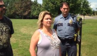 """Black Lives Matter activists in Saint Paul, Minnesota, are claiming a man was """"lynched"""" in Indian Mounds Regional Park on Tuesday, even though the man turned out to be white and his death was ruled a suicide by county officials. The sister of 50-year-old Michael R. Bringle, pictured here, spoke about her brother's memory during a press conference Tuesday, Aug. 1, 2017. (Twitter/@MaraGottfried/Pioneer Press)"""