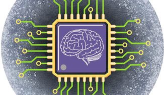 Illustration on artificial intelligence by Greg Groesch/The Washington Times