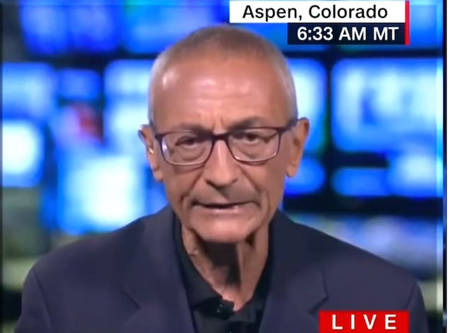 """John Podesta, Hillary Clinton's former campaign chairman, told CNN on Aug. 2, 2017, that he loses sleep """"every night"""" because of President Trump's Electoral College victory. (Image: CNN screenshot)"""