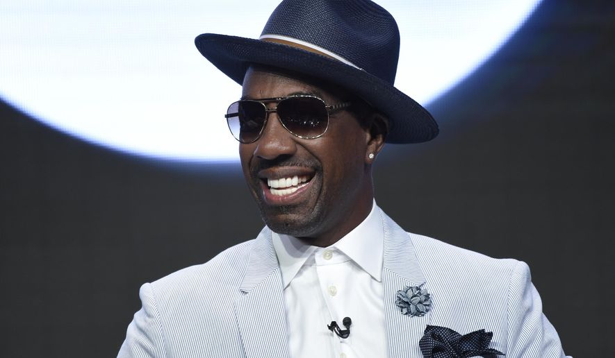 """FILE - In this Wednesday, July 26, 2017, file photo, J.B. Smoove participates in the """"Curb Your Enthusiasm"""" panel during the HBO Television Critics Association Summer Press Tour at the Beverly Hilton in Beverly Hills, Calif. Leon Black has so much on his mind: Gallery Books told The Associated Press on Wednesday, Aug. 2, that it is devoting a book to the trash talker from """"Curb Your Enthusiasm."""" The release is called """"The Book of Leon"""" and the writing credit goes to the man who plays Black on the comedy series, J.B. Smoove. (Photo by Chris Pizzello/Invision/AP, File)"""