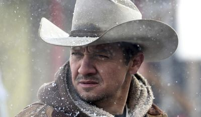 "This image released by The Weinstein Company shows Jeremy Renner in a scene from ""Wind River."" (Fred Hayes/The Weinstein Company via AP)"