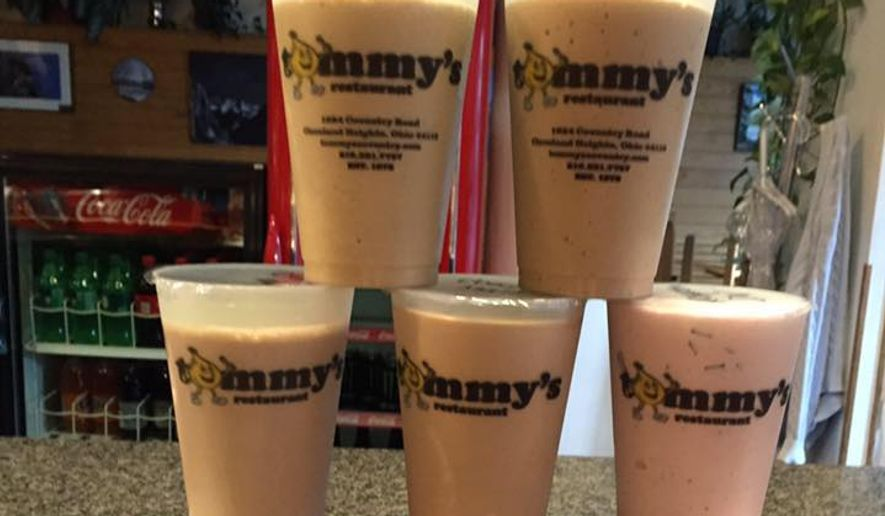 Milkshakes from Tommy's Restaurant in Cleveland Heights, Ohio are shown in this photo. According to the Associated Press, the eatery shipped a mocha milkshake, packed with dry ice, to terminal cancer patient Emily Pomeranz, who was in hospice care some 375 miles away. She was able to enjoy the treat just days before losing her battle with pancreatic cancer.  (Tommy's/Facebook).