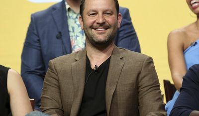 "Dan Fogelman participates in the ""This Is Us"" panel during the NBC Television Critics Association Summer Press Tour at The Beverly Hilton hotel on Thursday, Aug. 3, 2017, in Beverly Hills, Calif. (Photo by Willy Sanjuan/Invision/AP)"