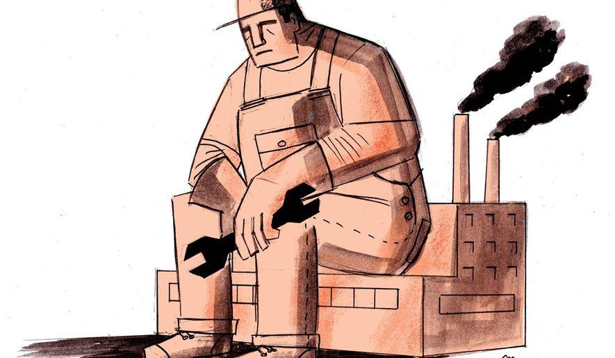 Illustration on economic lethargy by Mark Weber/Tribune Content Agency