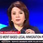 """CNN's Ana Navarro took part in a heated immigration debate on """"Anderson Cooper 360"""" on Wednesday that prompted her to tell panelist Jeffrey Lord, """"It must be so nice to be a white male."""" (Image: CNN screenshot)"""