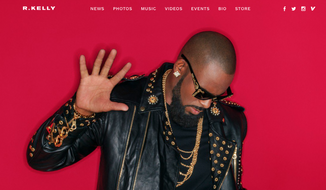 R&B artist R. Kelly, shown in this screen grab from his official website. (R-Kelly.com)