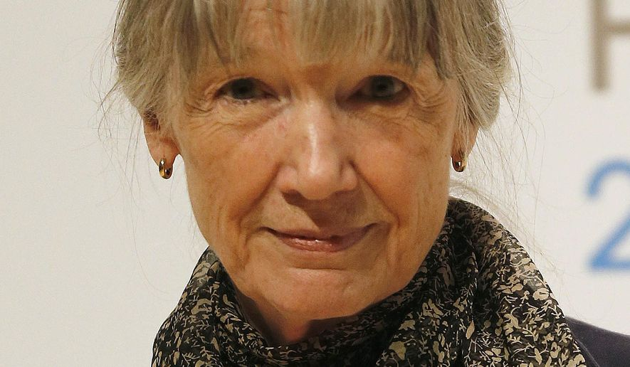 FILE - In this Oct. 12, 2015 file photo, author Anne Tyler appears in London. Paperback editions of Tyler's novels are being issued over the next several months.  (AP Photo/Frank Augstein, File)
