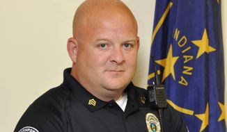This undated photo released by the Southport Police Department shows Southport Police Lt. Aaron Allan who was slain July 27, 2017, allegedly by a motorist he was trying to help following a car crash on the south side of Indianapolis. An Indianapolis man has been charged with murder in Allan's killing. (Southport Police Department via AP)