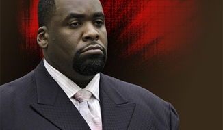 Former Detroit Mayor Kwame Kilpatrick could return to the Motor City on Aug. 23 for a court date. He is serving time in a federal prison in Oklahoma after being convicted in 2013 in a corruption probe. (Photo: Associated Press)