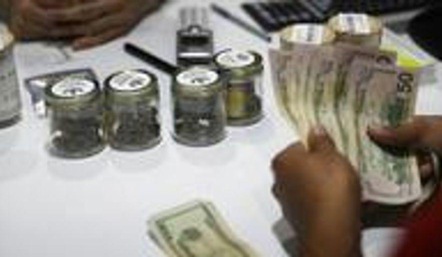 Marijuana is legal in Nevada but not in casinos. (Associated Press/John Locher)