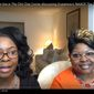 """Lynnette """"Diamond"""" Hardaway and Rochelle """"Silk"""" Richardson talk about current topics on YouTube. (Image: Screen grab from the Viewers View YouTube channel: https://www.youtube.com/watch?v=yW7H8oE3tVU)"""