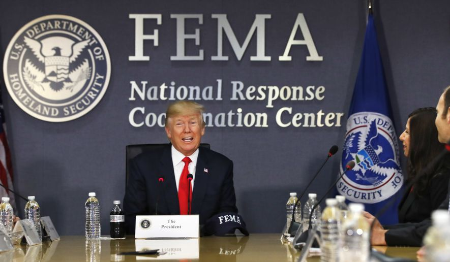 President Trump's White House said it was preparing a first installment of perhaps $6 billion in emergency aid and will come back later with a bigger relief package to help Houston and other areas damaged by Harvey. Watchdogs, however, say just as important as the price tag is how the money is spent by the Federal Emergency Management Agency. (Associated Press/File)