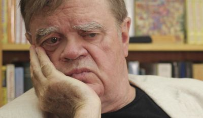 """In this July 26, 2017 photo, Garrison Keillor, creator and former host of, """"A Prairie Home Companion,"""" appears at his St. Paul, Minn., office. Now that he has hung up his microphone as host of his popular public radio show, Keillor, who turns 75 this month, will embark on a 28-city """"Prairie Home Love & Comedy Tour 2017,"""" which he vows will be his last. (AP Photo/Jeff Baenen)"""
