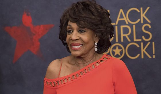 Rep. Maxine Waters attends the Black Girls Rock! Awards at the New Jersey Performing Arts Center on Saturday, Aug. 5, 2017, in Newark, N.J. (Photo by Charles Sykes/Invision/AP) ** FILE **