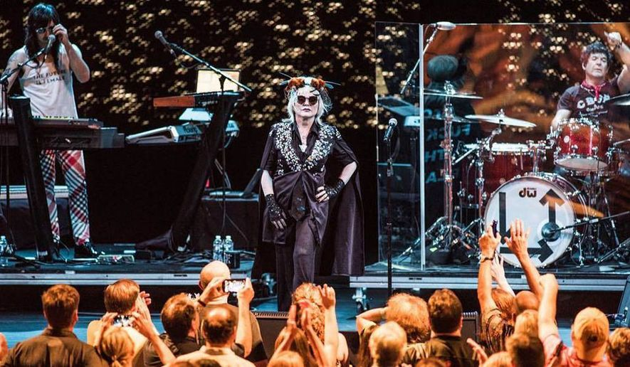 Debbie Harry leads Blondie at Wolf Trap's FIlene Center on Thursday, August 3, 2017. (Photograph courtesy of Wolf Trap, credit: Teddy Wolff)