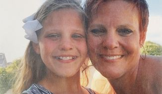 In this undated photo provided by Dianne Grossman, Grossman, right, poses with her daughter Mallory Grossman. The New Jersey mother is suing her late daughter's school district because she says they didn't do enough to stop cyber bullying against her daughter that led the 12-year-old to kill herself. (Courtesy of Dianne Grossman via AP)