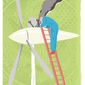 Illustration on unreliable alternate power by Linas Garsys/The Washington Times