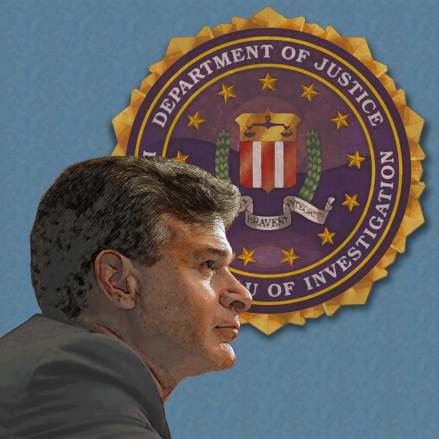 Confirmation of Christopher Wray as FBI Director Illustration by Greg Groesch/The Washington Times