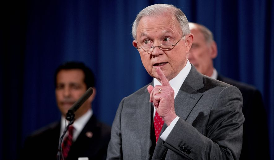 "Attorney General Jeff Sessions noted Chicago lawlessness and warned, ""It's this simple: Comply with the law, or forgo taxpayer dollars."" (Associated Press)"
