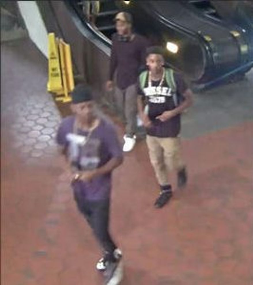 Metro Transit Police released this photo of three persons of interest in the shooting. (Metro Transit Police)