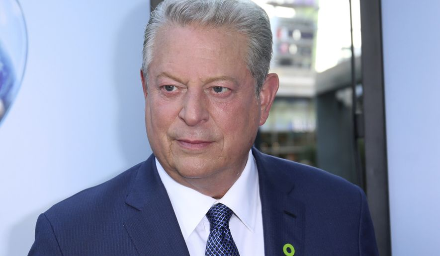 "Vice President Al Gore arrives at the LA Premiere of ""An Inconvenient Sequel: Truth to Power"" at the Arclight Hollywood on Tuesday, July 25, 2017, in Los Angeles. (Photo by Willy Sanjuan/Invision/AP)"