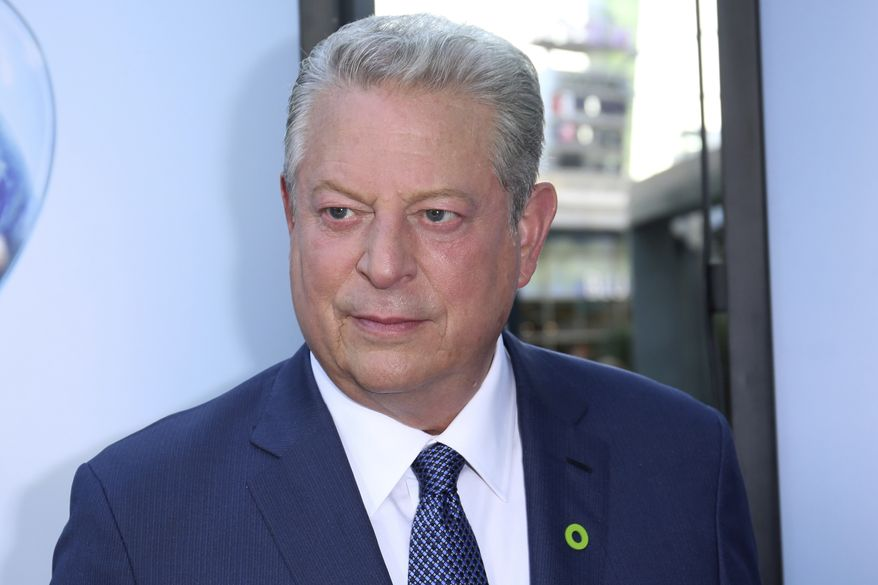 """Vice President Al Gore arrives at the LA Premiere of """"An Inconvenient Sequel: Truth to Power"""" at the Arclight Hollywood on Tuesday, July 25, 2017, in Los Angeles. (Photo by Willy Sanjuan/Invision/AP)"""