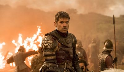 "This image released by HBO shows Nikolaj Coster-Waldau as Jaime Lannister in an episode of ""Game of Thrones,"" which aired Sunday, Aug. 6. An individual using the name ""Mr. Smith"" posted a fresh cache of stolen HBO files, including some apparently related to the show ""Game of Thrones,"" online Monday, part of what the purported hacker has claimed is a much larger trove of stolen HBO material. (Macall B. Polay/HBO via AP)"