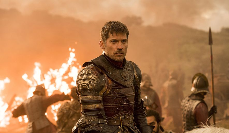 """This image released by HBO shows Nikolaj Coster-Waldau as Jaime Lannister in an episode of """"Game of Thrones,"""" which aired Sunday, Aug. 6. An individual using the name """"Mr. Smith"""" posted a fresh cache of stolen HBO files, including some apparently related to the show """"Game of Thrones,"""" online Monday, part of what the purported hacker has claimed is a much larger trove of stolen HBO material. (Macall B. Polay/HBO via AP)"""