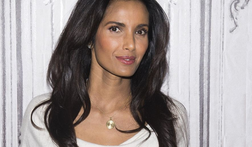"FILE - In this March 8, 2016 file photo, Padma Lakshmi participates in a speaker series at AOL Studios in New York to discuss the upcoming finale of ""Top Chef."" Lakshmi, could testify as soon as Monday, Aug. 7, 2017, in a federal court trial in Boston where four Teamsters are accused of intimidating the staff and crew of the reality TV show when it was filming in nearby Milton, Mass., in June 2014. (Photo by Charles Sykes/Invision/AP, File)"