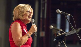 U.S. Rep. Diane Black, a Republican candidate for Tennessee governor, speaks at a fundraiser in Franklin, Tenn., on Aug. 6, 2017. (Associated Press) **FILE**