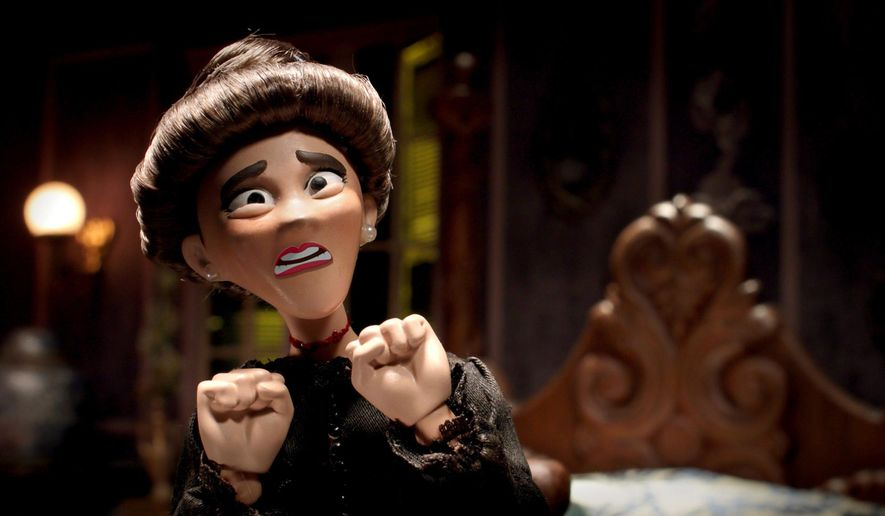 "This image released by Crackle shows a scene from ""SuperMansion: Drag Me to Halloween,"" a holiday special streaming on Crackle starting Oct. 5. (Crackle via AP)"
