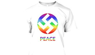 KA Design, a European clothing company, has sparked outrage after trying to reclaim the swastika as a symbol of peace and love. (KA Design)