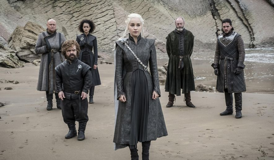 "This image released by HBO shows a scene from an episode of ""Game of Thrones,"" which aired Sunday, Aug. 6, 2017. The series continued its ratings reign with a best-yet audience of 10.2 million. (HBO via AP)"