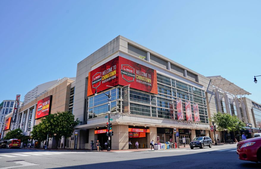 Expediting entry is one of the goals for Capital One Arena. Fans have often complained about lines jutting out toward F Street. (Associated Press/File)