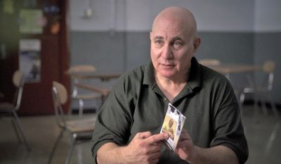 In this June 2017 frame from video, provided by CBS News, Son of Sam killer David Berkowitz is interviewed at the Shawangunk Correctional Facility in Wallkill, N.Y., for a CBS News special to be broadcast Friday, Aug. 11 on the CBS Television Network. In the interview Berkowitz spoke out about what led him to terrorize New York 40 years ago by killing six people and wounding seven others in seemingly random shootings from 1976 to 1977. He also described his life before he turned into a murderer, and spoke about life in prison four decades after he was arrested. (CBS News via AP)