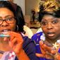 "The YouTube stars known as ""Diamond and Silk"" say 95 percent of their videos are no longer monetized because their pro-Trump content has been deemed ""not suitable for all advertisers."" (Twitter, Diamond and Silk)"