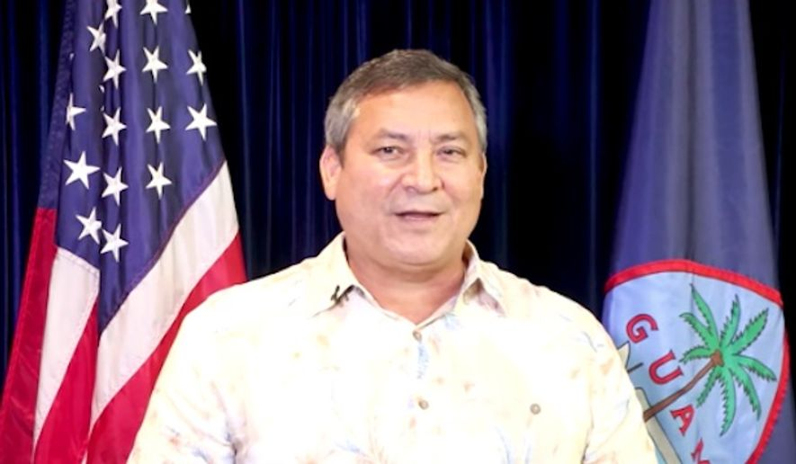 "Guam's Republican governor, Eddie Calvo, on Thursday praised President Trump's ""fire and fury"" warning to North Korea, saying he wants a president who speaks sternly to America's enemies. (YouTube/@Eddie Calvo)"