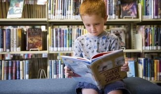 Jayden Hayes, 5, poses for a portrait Saturday, Aug. 5, 2017, at the Twin Falls Public Library in Twin Falls.  (Pat Sutphin/The Times-News via AP)