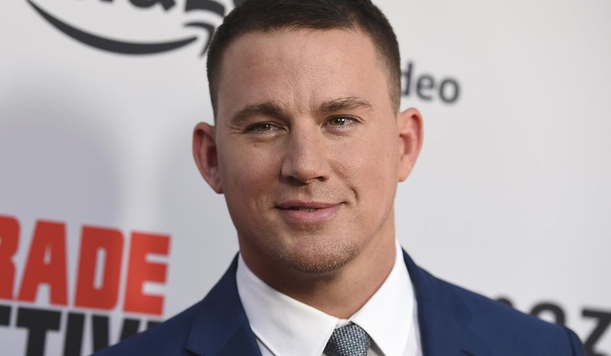 "FILE - In this Aug. 3, 2017, file photo, Channing Tatum arrives at the Los Angeles premiere of ""Comrade Detective"" in Los Angeles. Tatum danced with a North Carolina gas station cashier in a video posted to Facebook Live on Aug. 8, 2017. (Photo by Jordan Strauss/Invision/AP, File)"